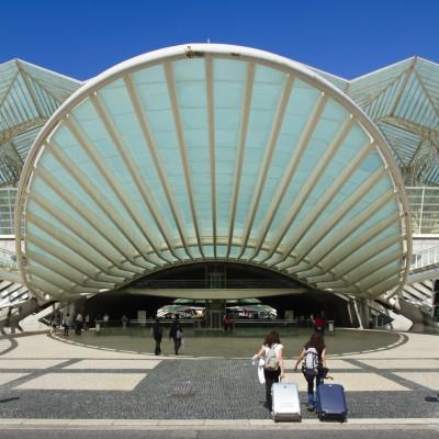 Bahnhof Oriente, Park d. Nationen, Lissabon, 2014