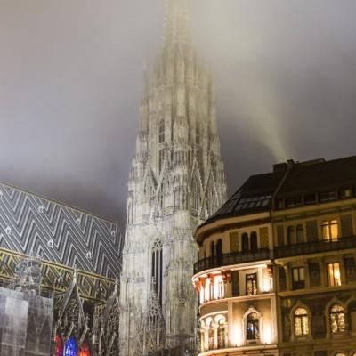 Stephansdom im Nebel, Wien, 2015